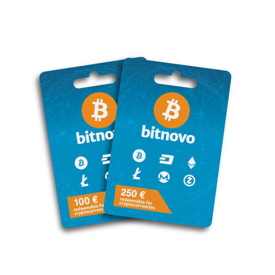 Bitnovo Voucher redeemable for Bitcoins/Cryptocurrencies