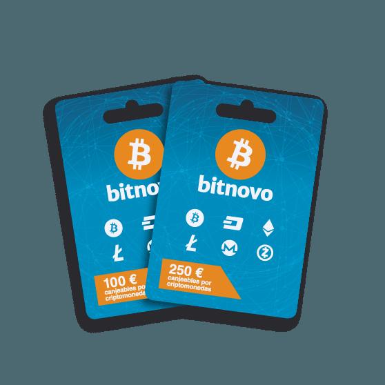 Voucher de Bitnovo canjeables por Bitcoins/Criptomonedas