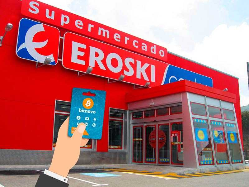 comprar bitcoins y otras criptomonedas en Eroski