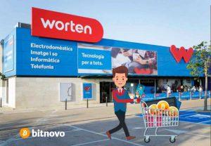 Las criptomonedas llegan en las tiendas Worten