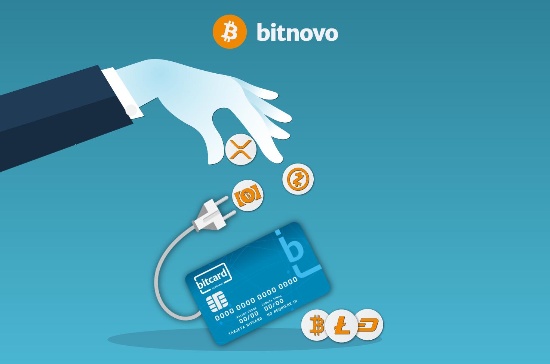 Recarga tarjeta monedero Bitcard de bitnovo