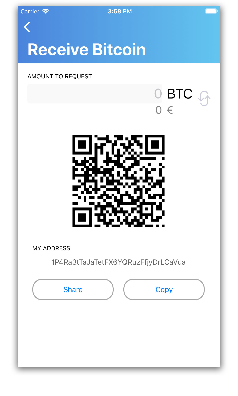 ricevere bitcoin nel wallet di bitnovo