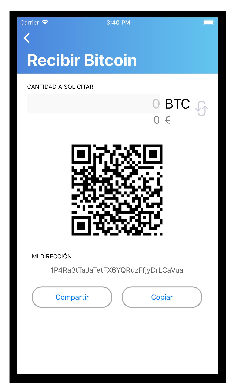 Cómo recibir bitcoins wallet bitnovo