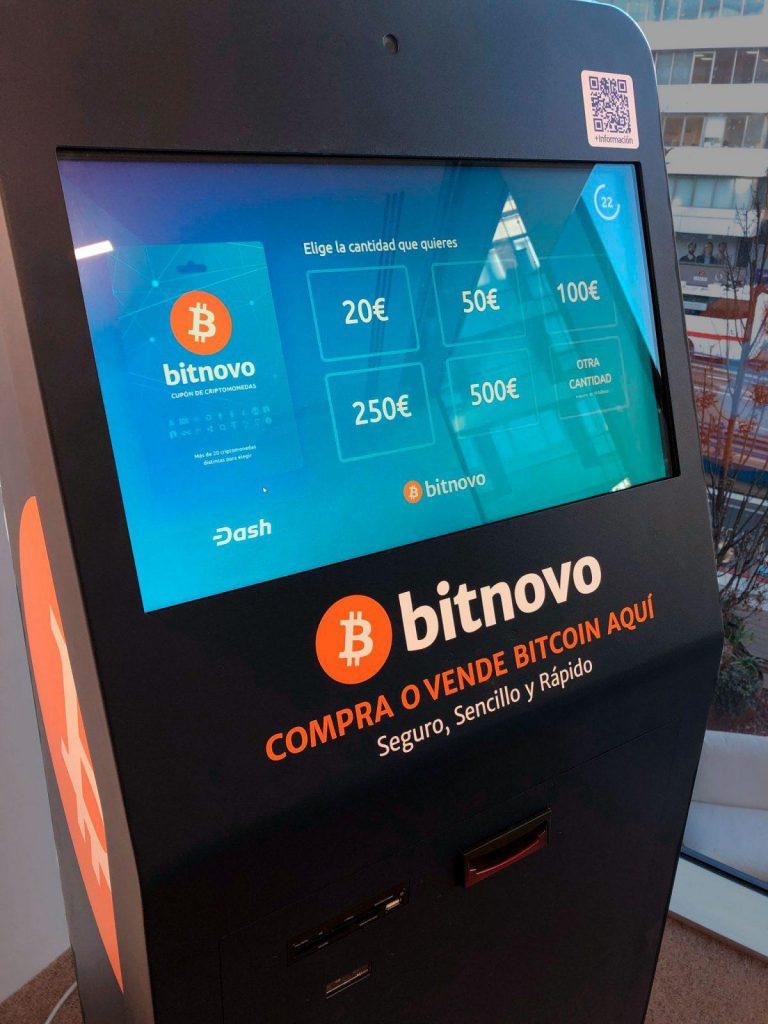 Bancomat di criptovalute di Bitnovo in Fintech Plaza
