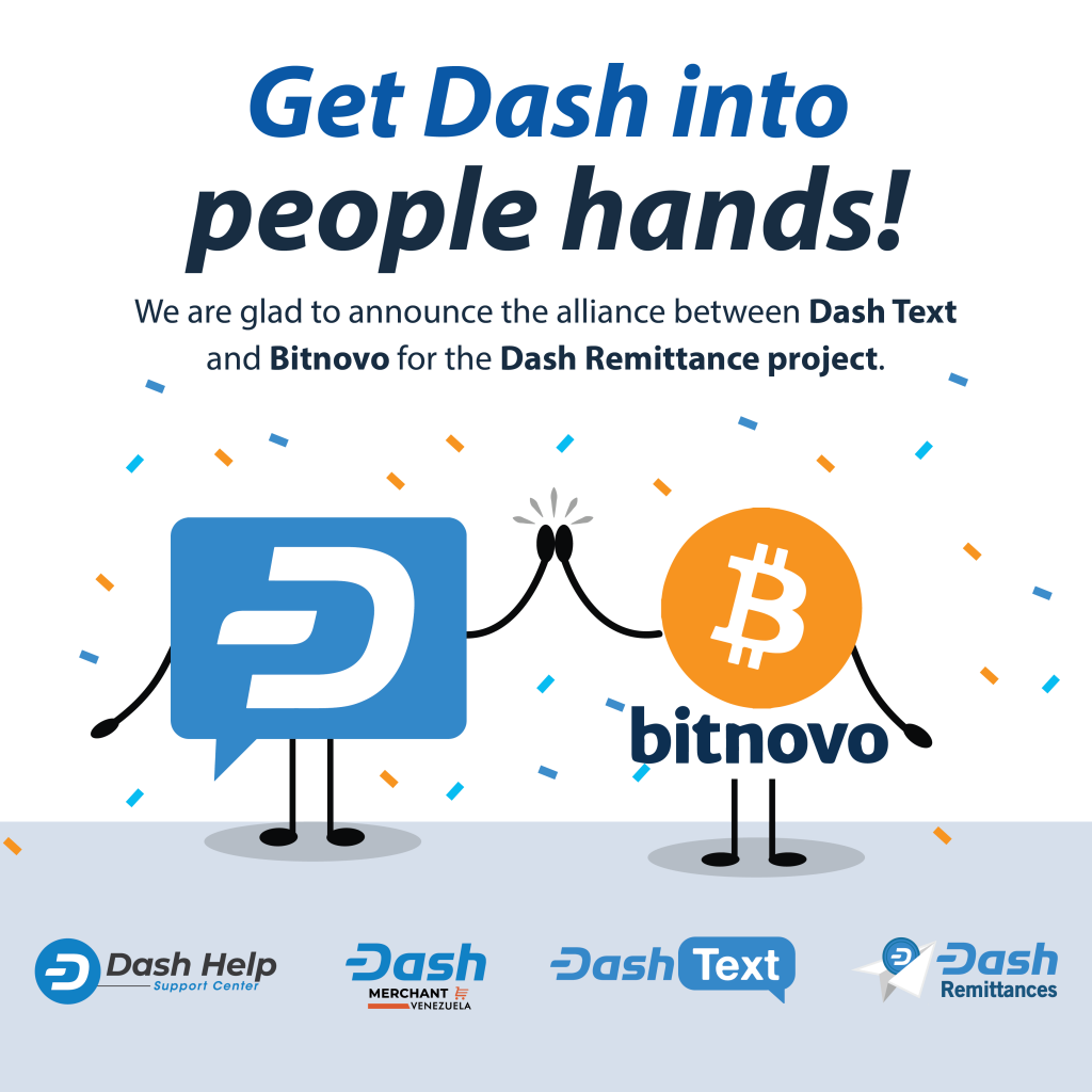 Alianza Bitnovo y Dash text