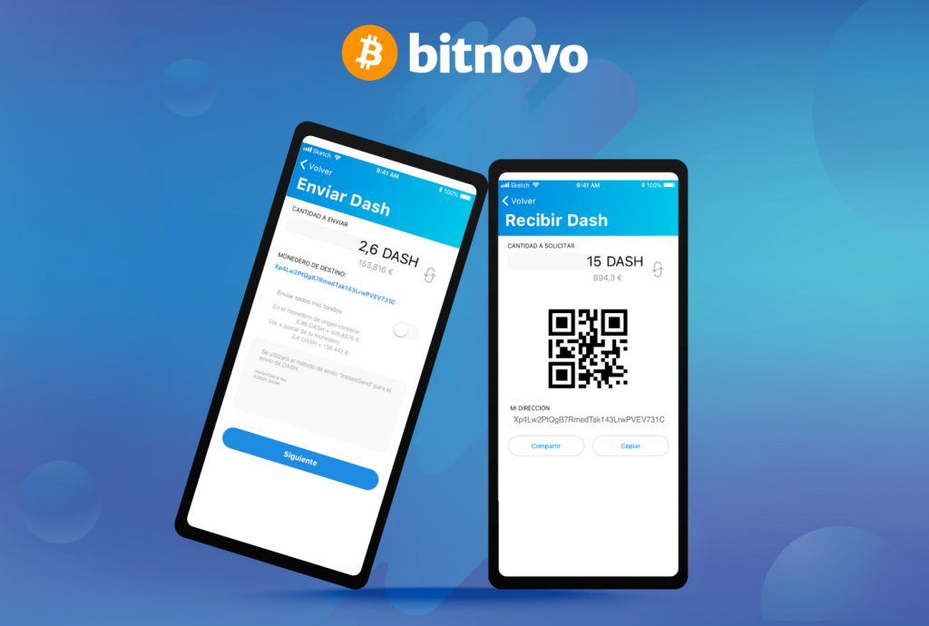 Dash Instant-send bitnovo wallet