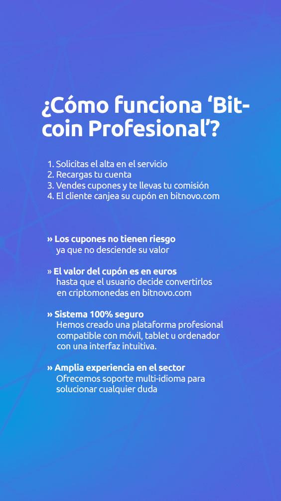 como funciona bitcoin profesional Bitnovo