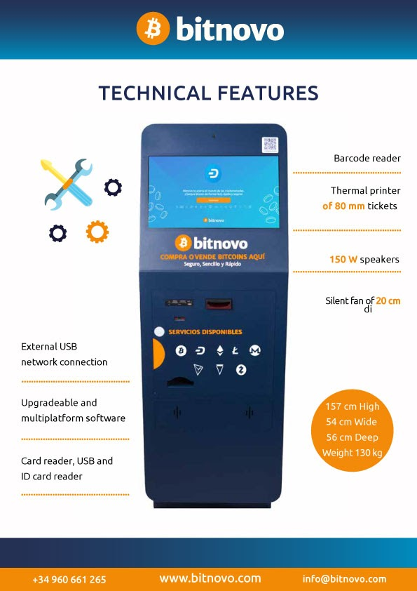 technical features ATM Bitnovo