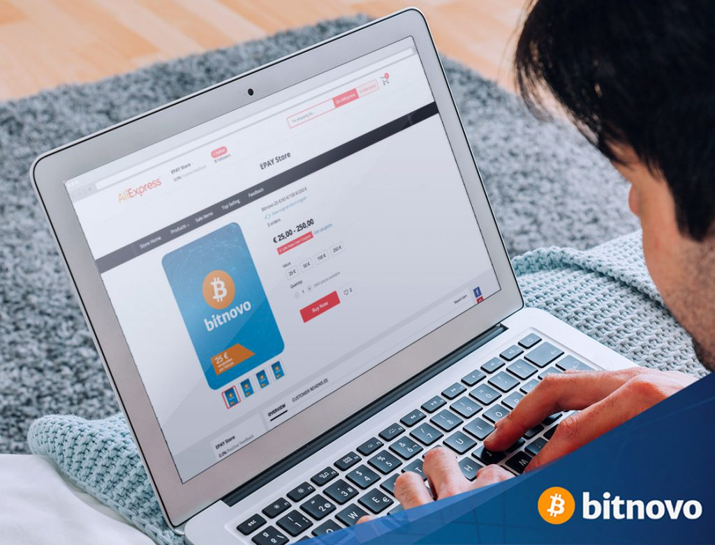 Buy cryptocurrencies Aliexpress Bitnovo voucher