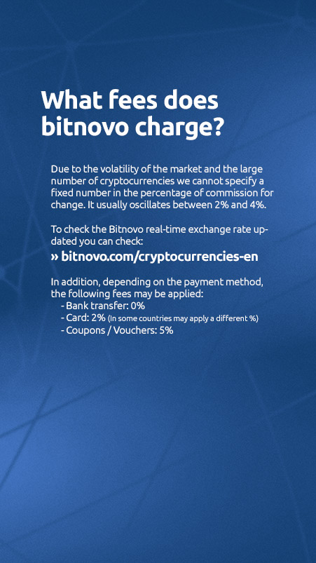 faqs buy cryptocurrencies online bitnovo fees