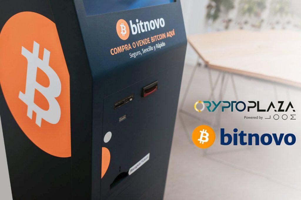 Bitnovo cajero crypto plaza criptomonedas bitcoin Madrid Bitnovo