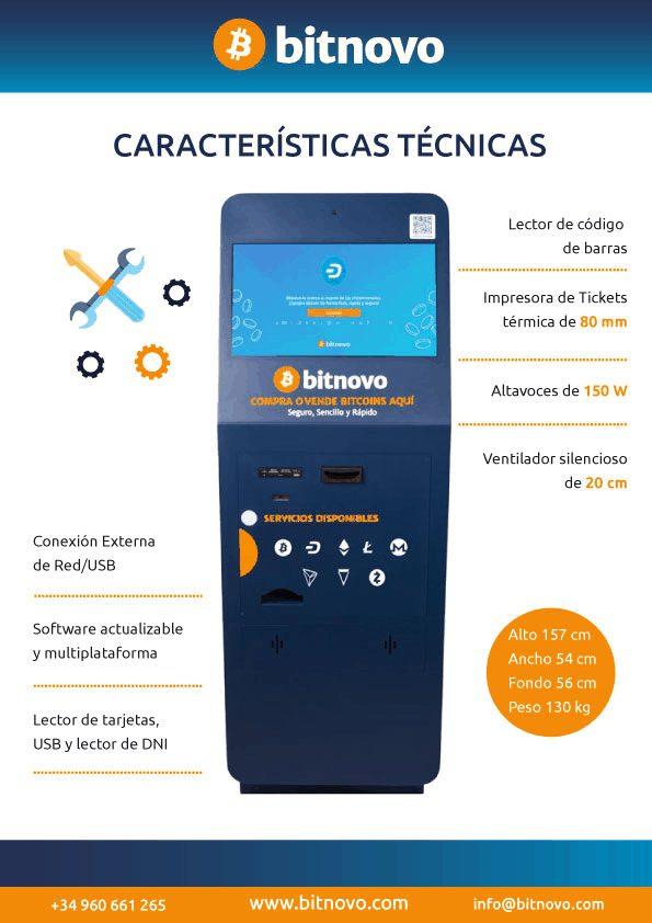 caracteristicas tecnicas ATM Bitnovo