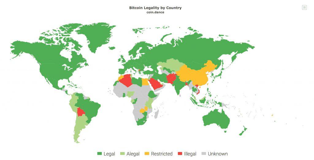 mapa bitcoin legal Bitnovo