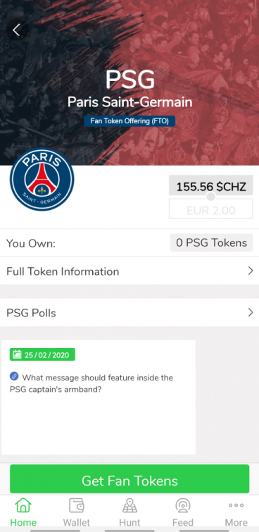 Get Fan Tokens PSG Socios Bitnovo