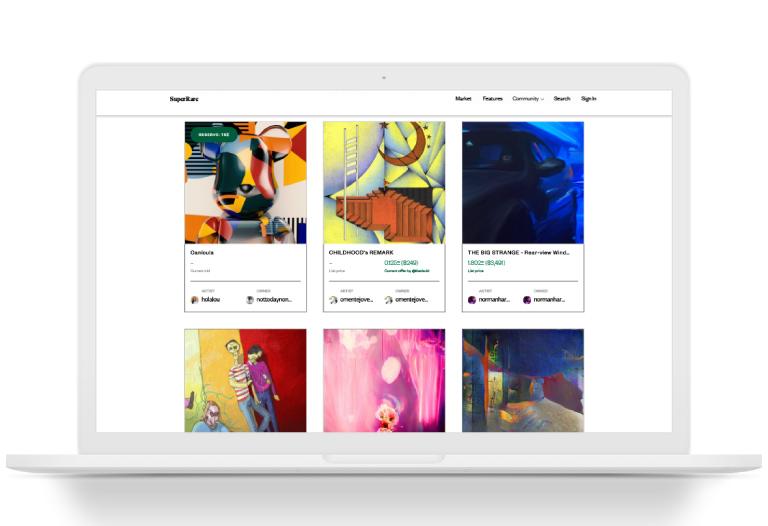 ¿Qué es SuperRare?(NFT) La red social de arte